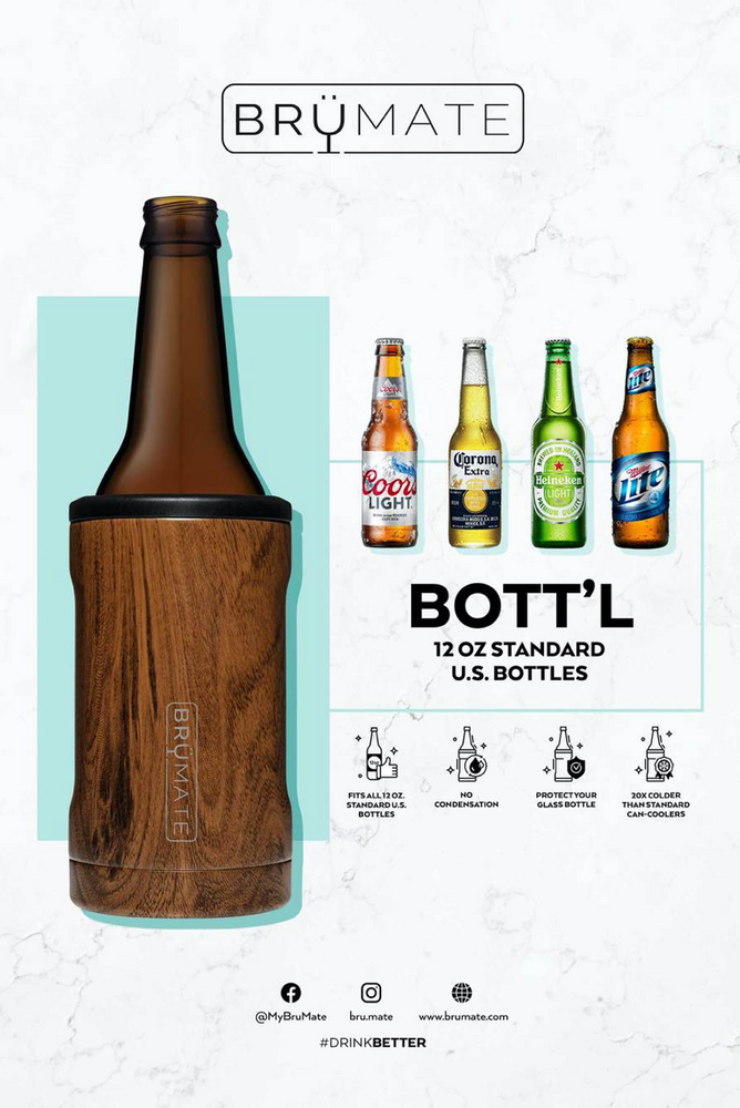 BruMate: HOPSULATOR BOTT'L | WALNUT (12OZ BOTTLES)
