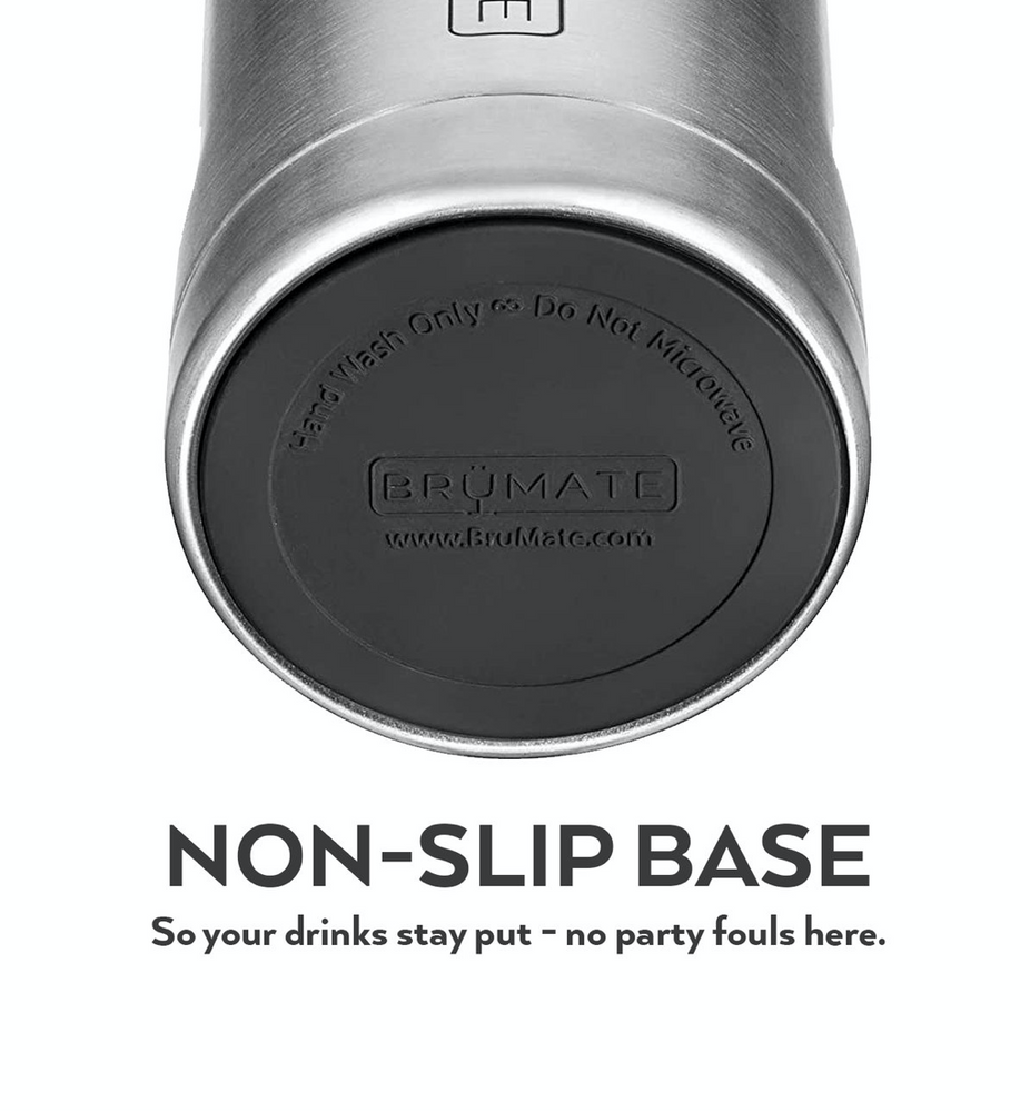 BruMate: HOPSULATOR SLIM | MATTE GRAY (12OZ SLIM CANS)
