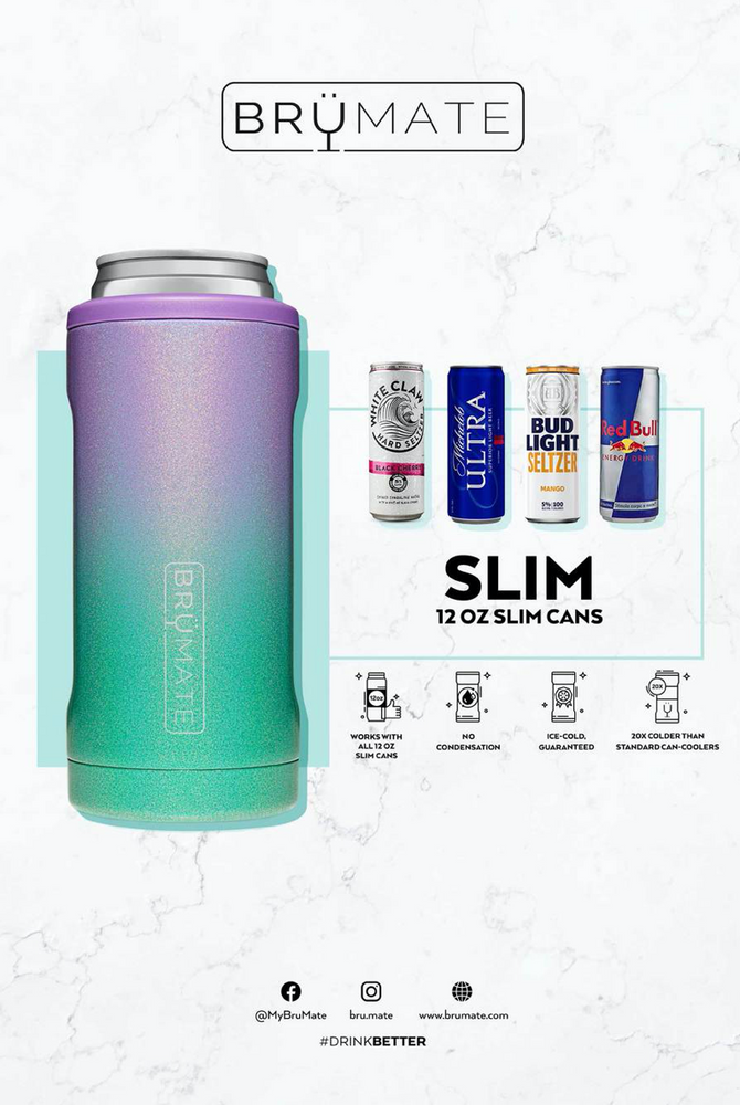 BruMate: HOPSULATOR SLIM | HIBISCUS (12OZ SLIM CANS) (LIMITED EDITION)