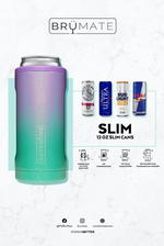 BruMate: HOPSULATOR SLIM | GLITTER BLUSH (12OZ SLIM CANS)