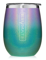 BruMate: UNCORK'D XL 14OZ WINE TUMBLER | GLITTER MERMAID