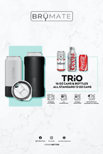 BruMate: HOPSULATOR TRÍO 3-IN-1 | GLITTER CHARCOAL (16OZ/12OZ CANS)