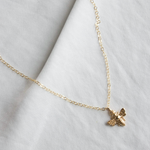 "Katie Waltman: Small Bee Charm On 18"" Gold-filled Chain"