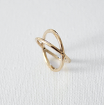 Katie Waltman: Gold - Crisscross Ring