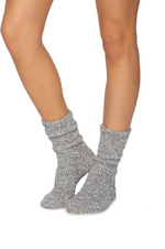Barefoot Dreams: cozychic heathered socks - Graphite