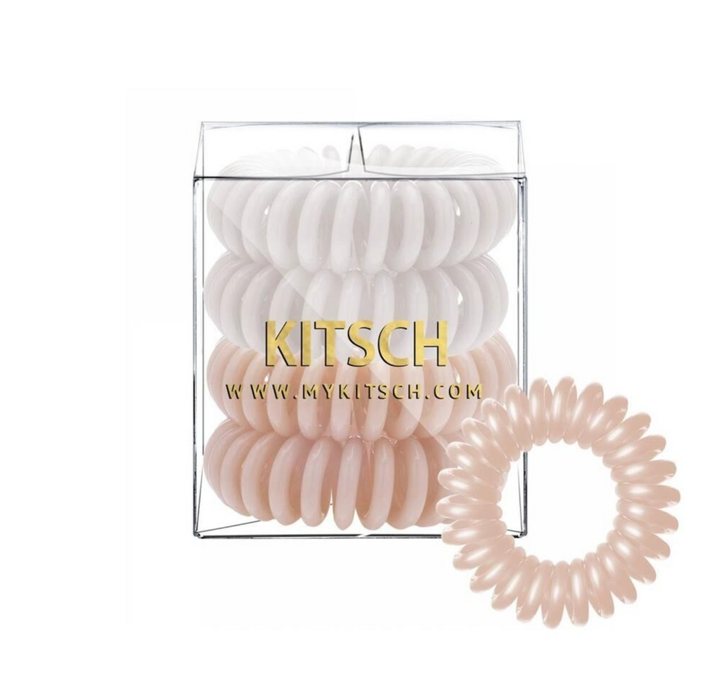 Kitsch 4 Pack Hair Coils - Nude