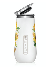 BruMate:  CHAMPAGNE FLUTE 12OZ | SUN FLOWER (LIMITED EDITION)