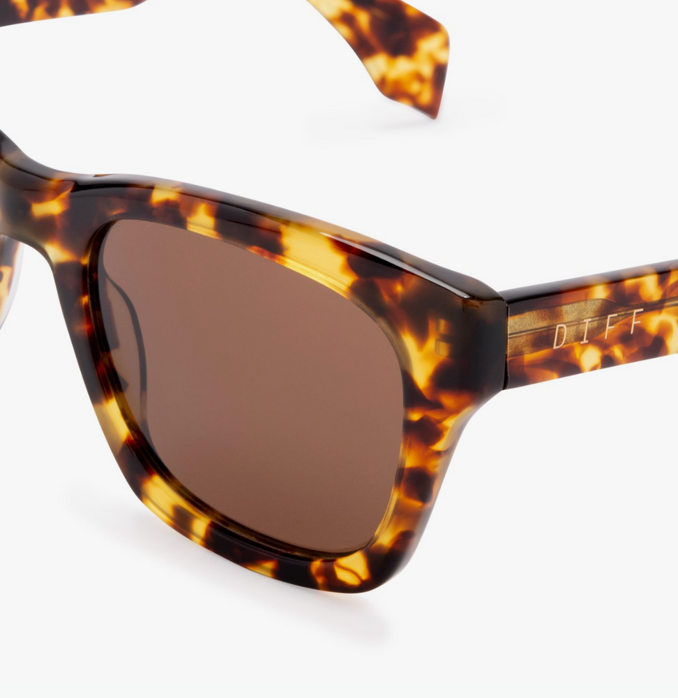 DIFF EYEWEAR - Dean - Amber Tortoise + Brown Polarized