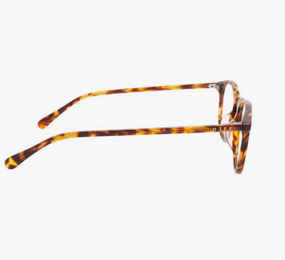 DIFF EYEWEAR - Jaxson - Amber Tortoise Blue Light Technology Clear