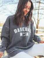 Charlie Southern: baseball mom high low sweatshirt