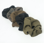 Kitsch - Crepe Scrunchies 5pc - Moss