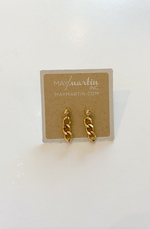 Post with Three Links Earrings