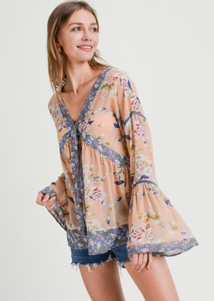 HEAD OVER HEELS FOR YOU BLOUSE