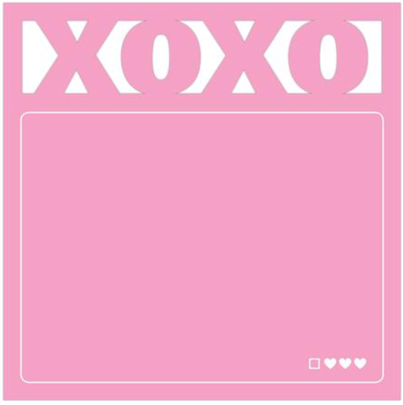 XOXO Diecut Sticky Notes