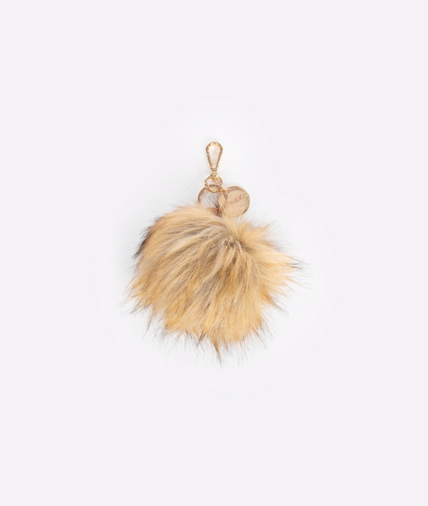 FAWN DESIGN THE POUF KEYCHAIN - BROWN