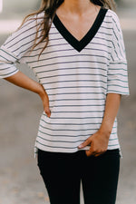 TOUCH OF HEAVEN STRIPE TOP