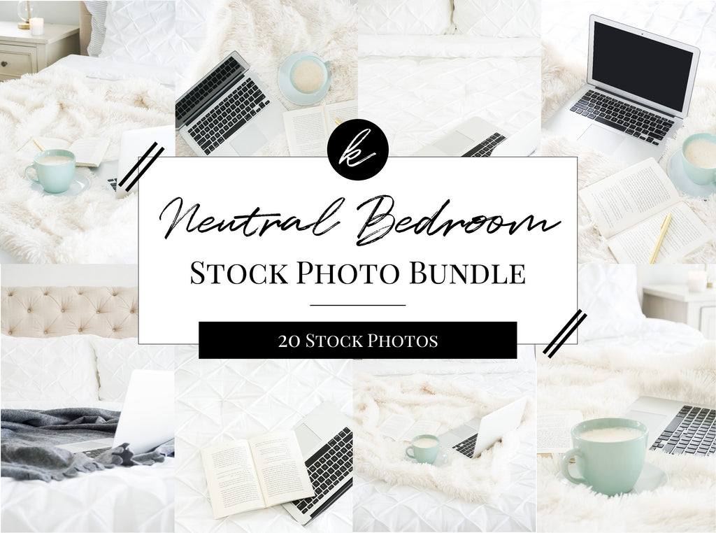 Neutral Bedroom Stock Photo Bundle
