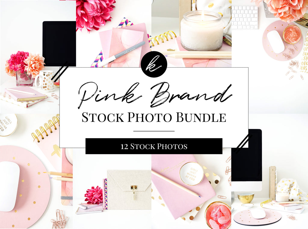 Pink Office Stock Photo Bundle