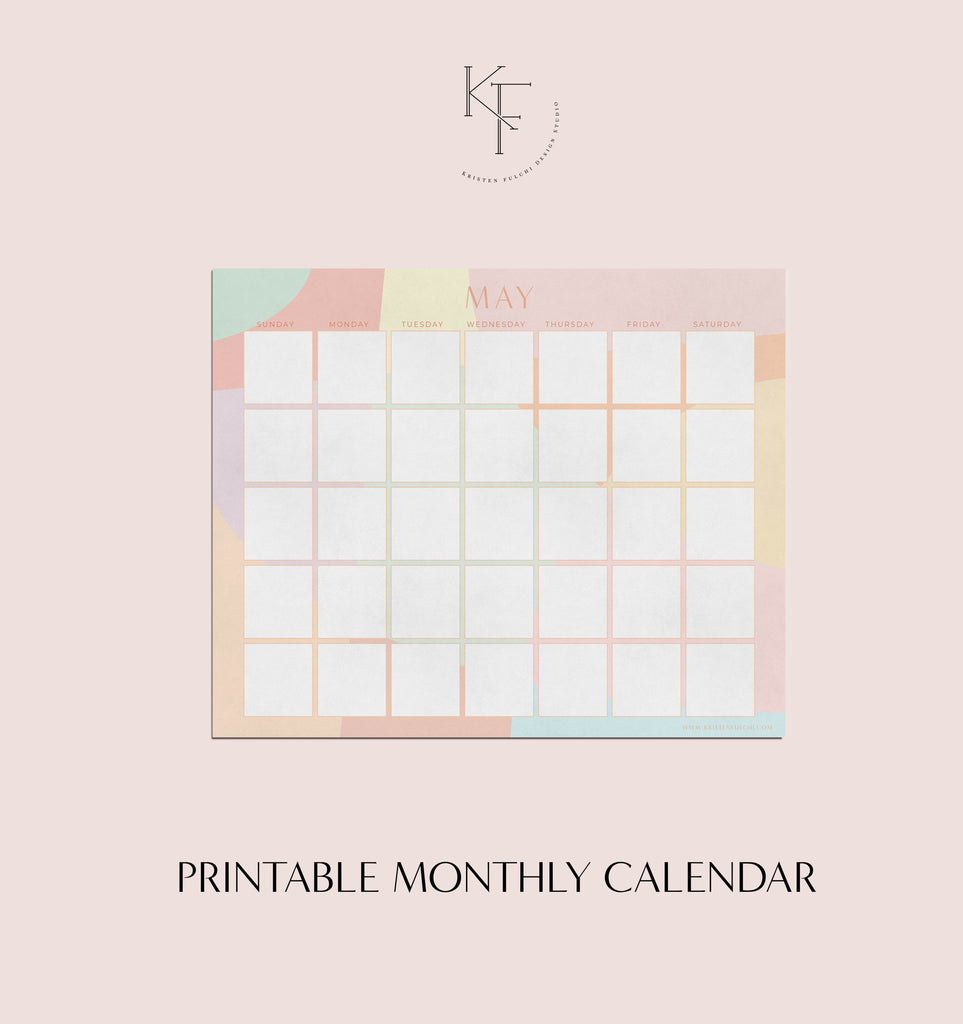 Printable Monthly Calendar - May