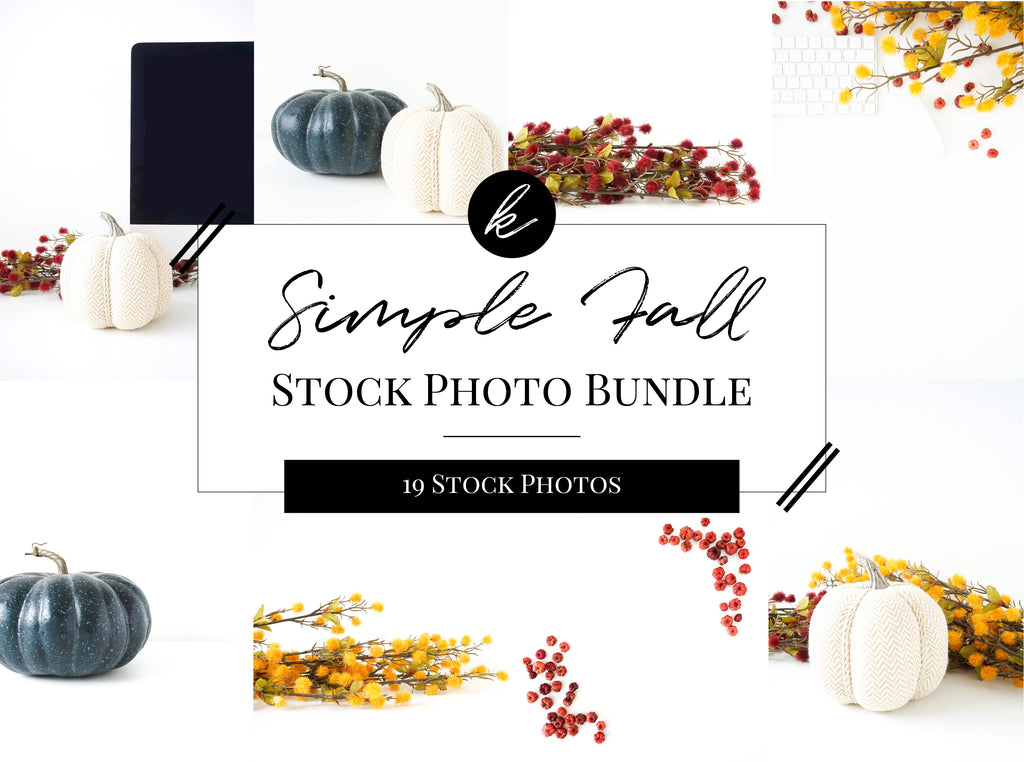 Simple Fall Stock Photo Bundle
