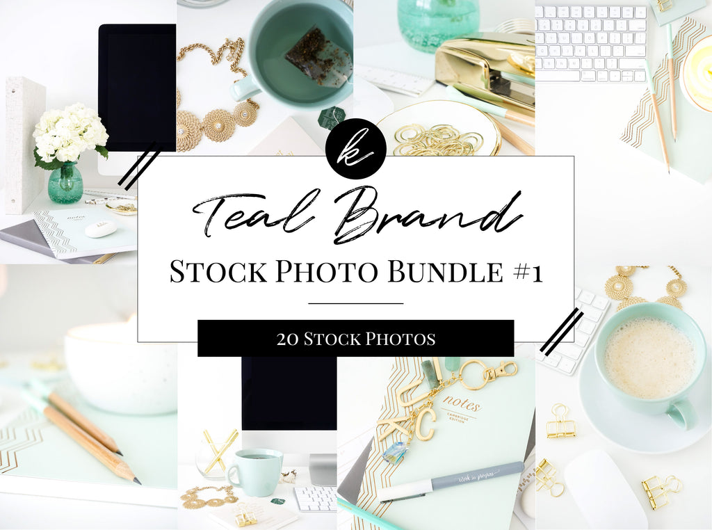 Teal Brand Office Stock Photo Bundle