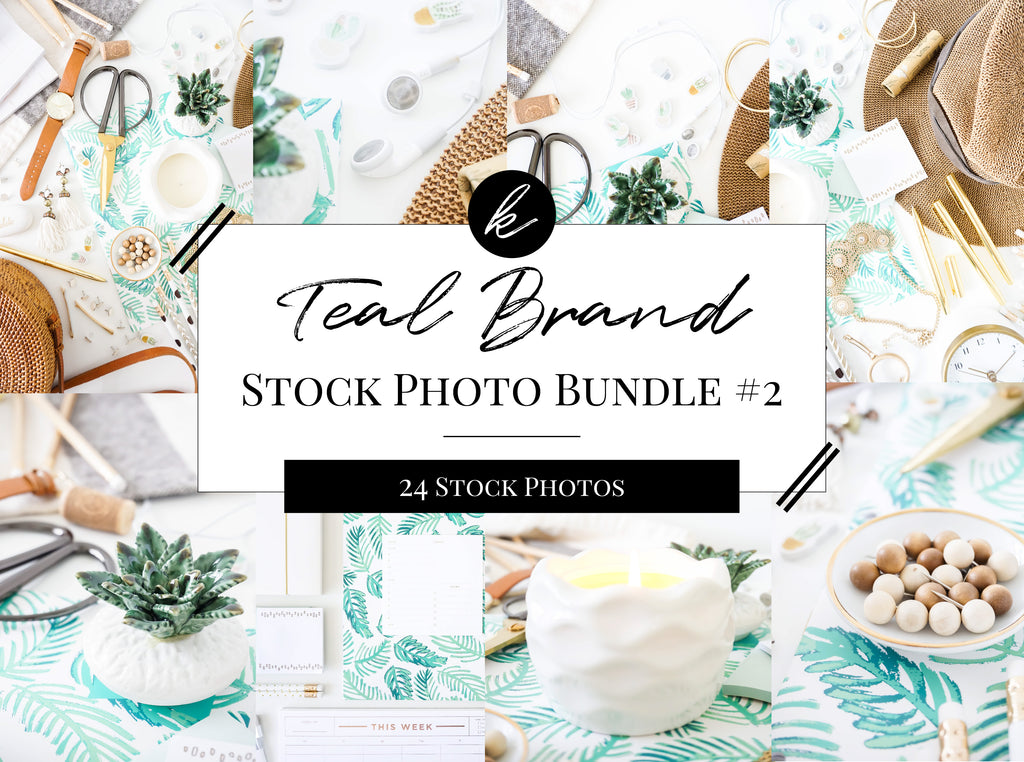 Teal Office Stock Photo Bundle