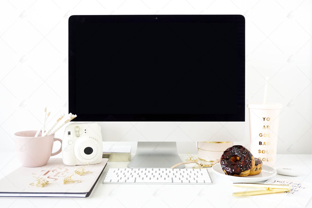 Blush Office Stock Photo Bundle