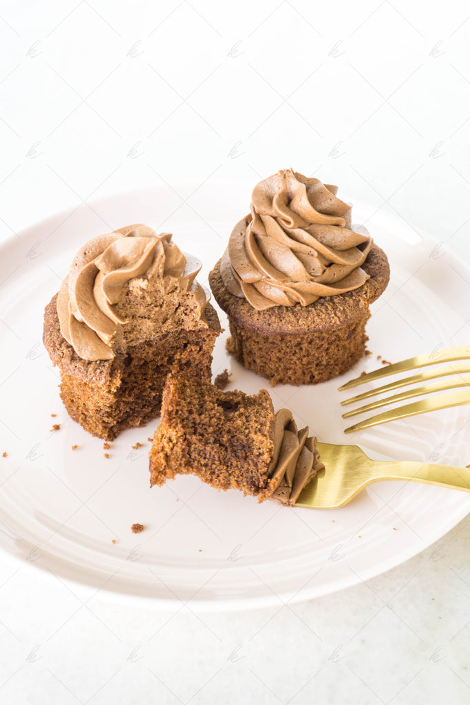 Chocolate Cupcakes and Rose Stock Photo Bundle