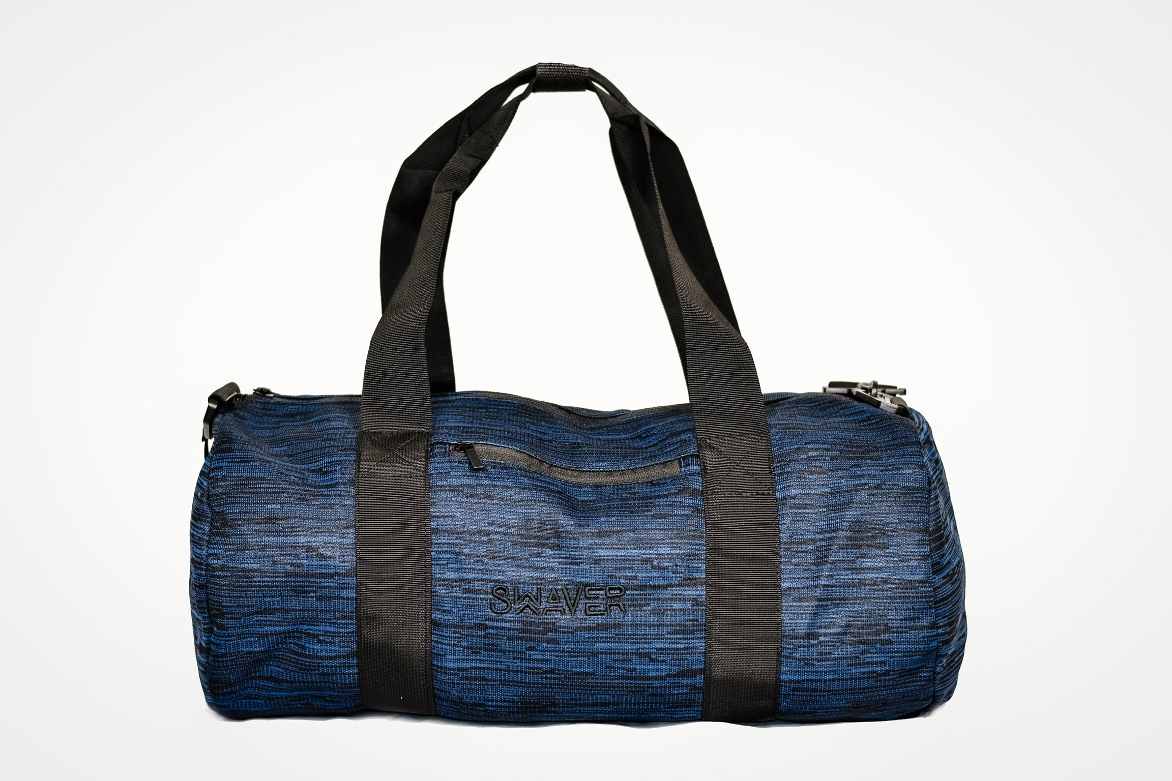 Swaver Knitted Navy/Blue & Black Barrel Bag - Swaver Accessories