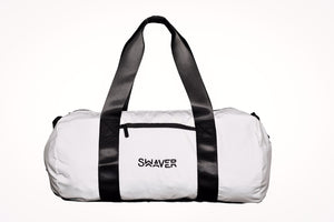 Swaver Satin White Barrel Bag - Swaver Accessories