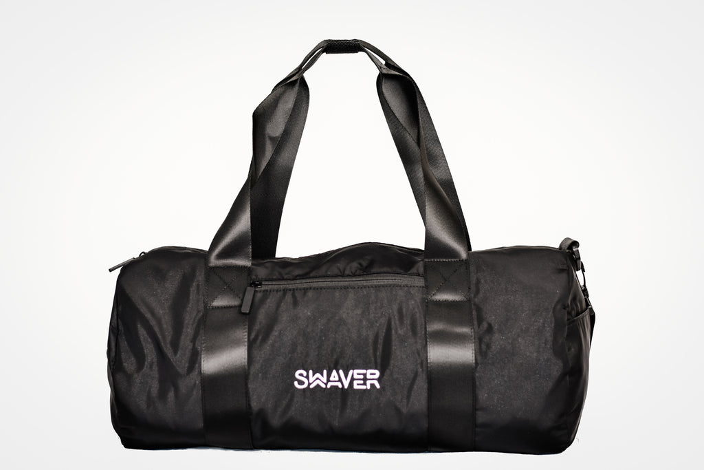 Swaver Satin Black Barrel Bag - Swaver Accessories