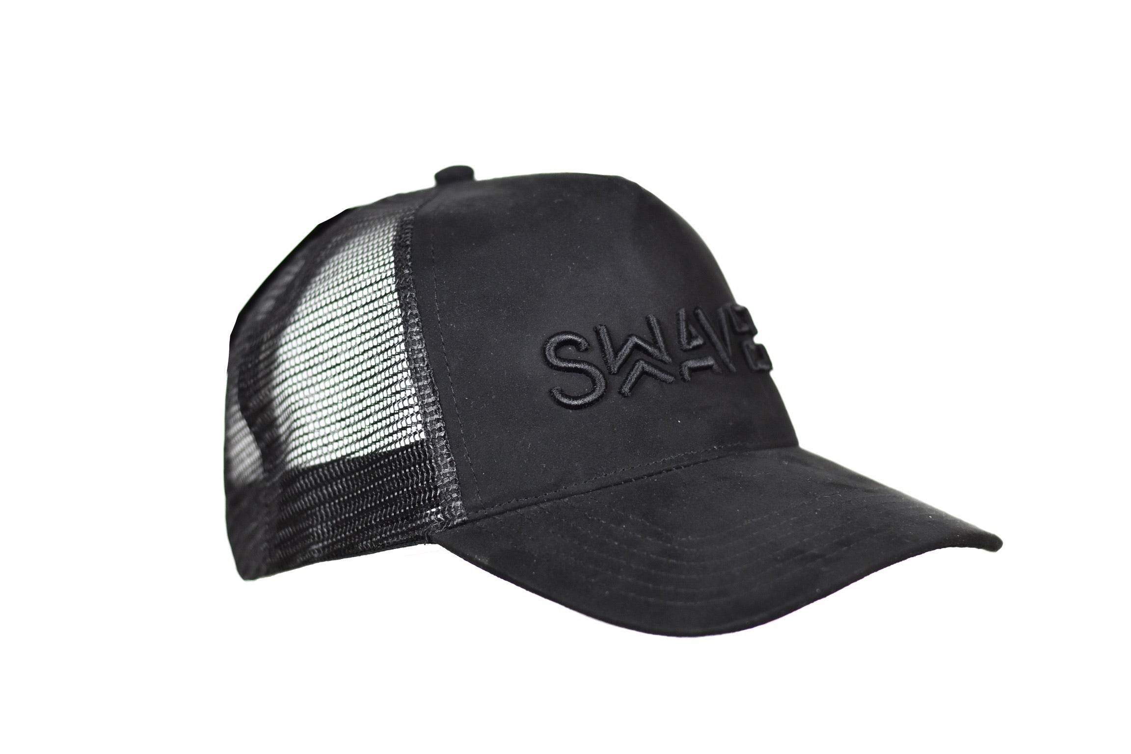 Swaver Black Suede Trucker - Swaver Accessories