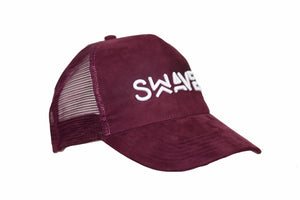 Swaver Burgundy Suede Trucker - Swaver Accessories