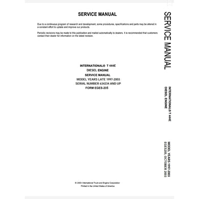 International T444E Engine Service Manual