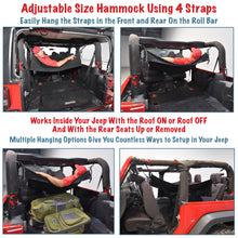 Load image into Gallery viewer, JKloud Hammock fitted for Jeep Wrangler JK 2 Door