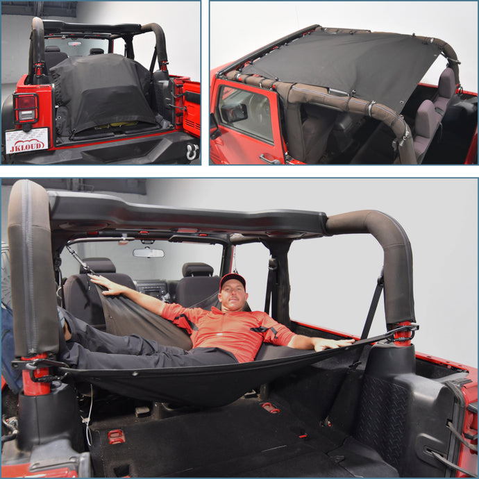 JKloud Hammock fitted for Jeep Wrangler JK 2 Door - [Jeep Gear]