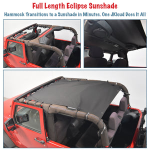 JKloud Hammock fitted for Jeep Wrangler JK 2 Door