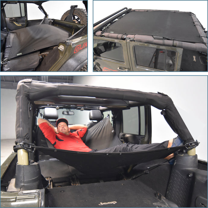 JKloud Hammock fitted for Jeep Wrangler JK 4 Door - [Jeep Gear]