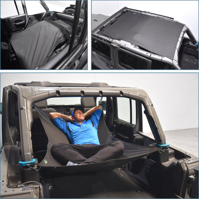JKloud Hammock fitted for Jeep Wrangler JL 4 Door - [Jeep Gear]