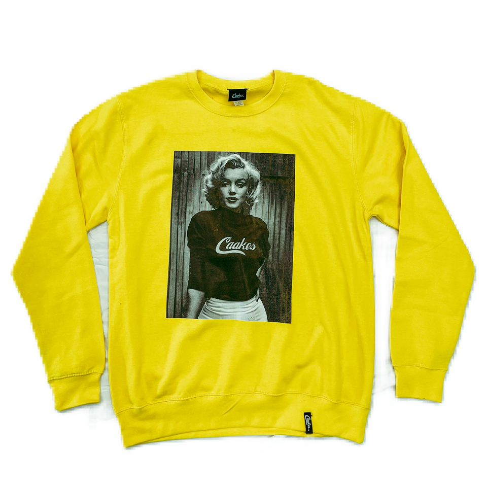 Caakes x Marilyn Monroe crewneck Yellow