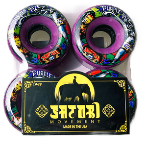 Satori Goo Ball Purple Haze Clear Purple Longboard Wheels - 62mm 78a (Set of 4)