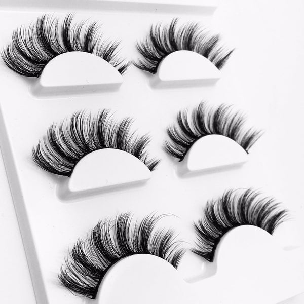 Three Pair 3D False Eyelashes