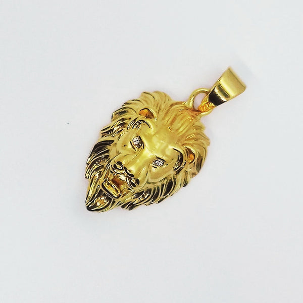 Stainless Steel Gold Lion Head