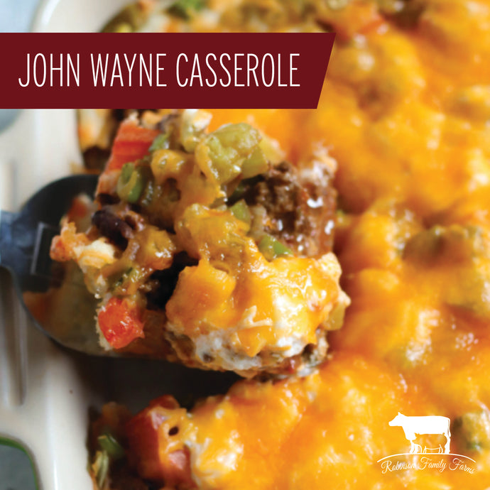 Pork Burger Recipe - John Wayne Casserole