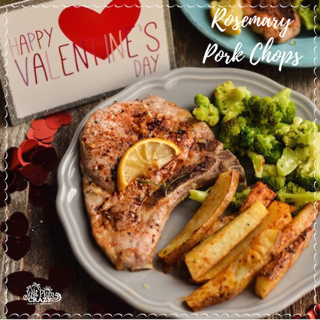 Valentine Rosemary Pork Chops