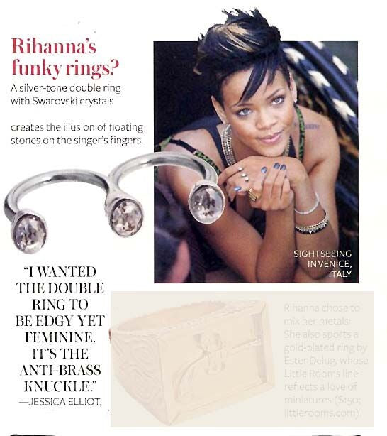 Worn by Rihanna