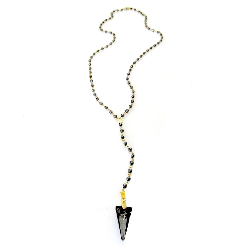 "Swarovski Spike ""Rosary"" Necklace"