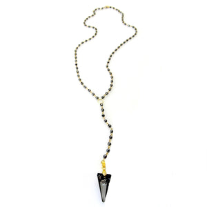"""Halle"" Swarovski Spike Rosary Necklace"