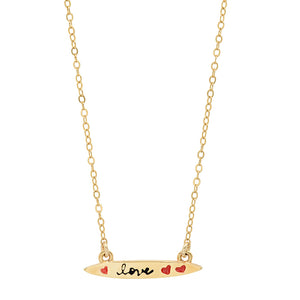 "Sterling Colorful Words Enamel small ""surfboard"" Necklace"