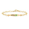 Sterling Colorful Words Enamel Bracelets